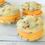 Halloween Funfetti Cookie Sandwiches