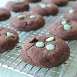 Mint Chip Chocolate Pudding Cookies