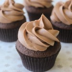 Dark Chocolate Nutella Cupcakes