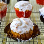 Glazed Pumpkin Donut Muffins