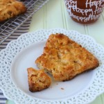 Apple White Cheddar Scones