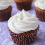 Brown Butter Pumpkin Cupcakes with Cream..